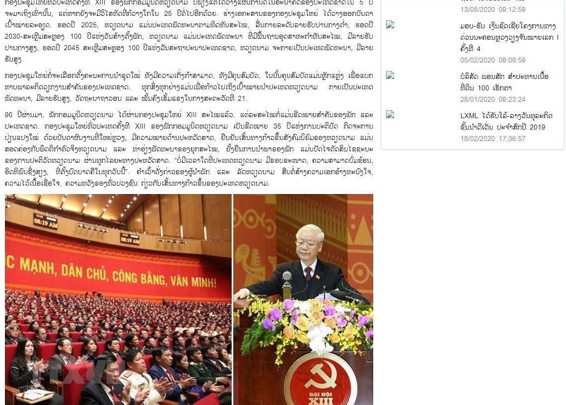 Truyen thong Lao de cao duong loi xay dung CNXH cua Viet Nam hinh anh 1