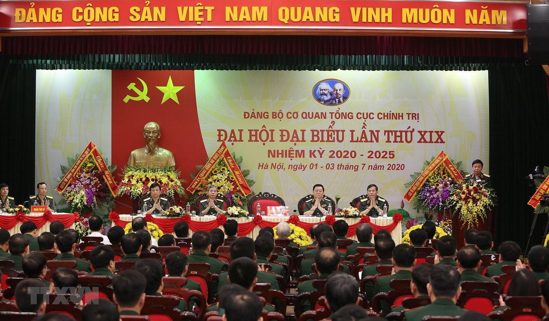 Dai hoi dai bieu Dang bo Co quan Tong cuc Chinh tri nhiem ky 2020-2025 hinh anh 1