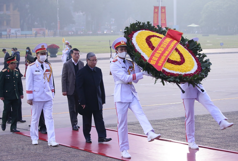 [Photo] Chuong trinh tong duyet Dai hoi toan quoc lan XIII cua Dang hinh anh 3