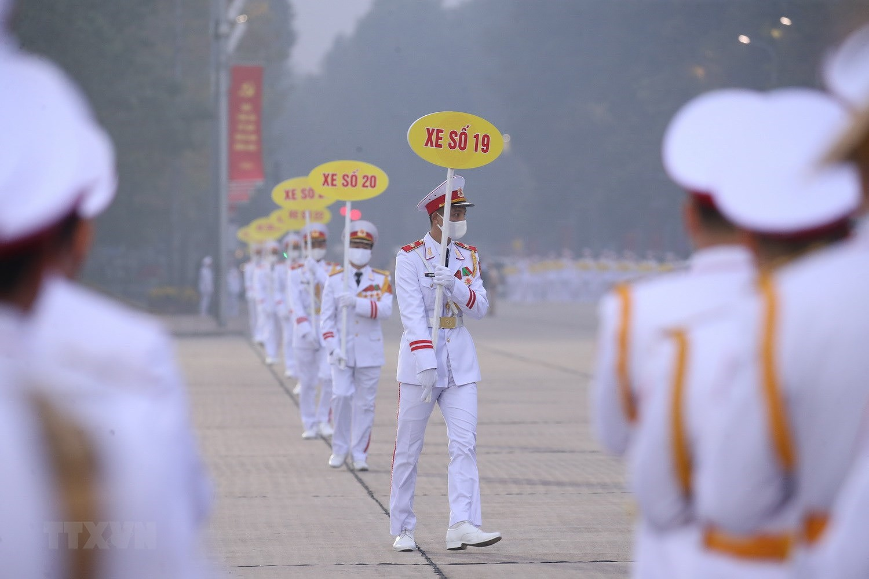 [Photo] Chuong trinh tong duyet Dai hoi toan quoc lan XIII cua Dang hinh anh 6