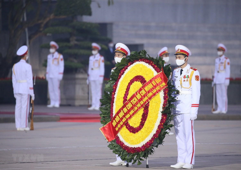 [Photo] Chuong trinh tong duyet Dai hoi toan quoc lan XIII cua Dang hinh anh 19