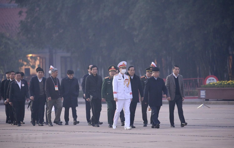 [Photo] Chuong trinh tong duyet Dai hoi toan quoc lan XIII cua Dang hinh anh 1