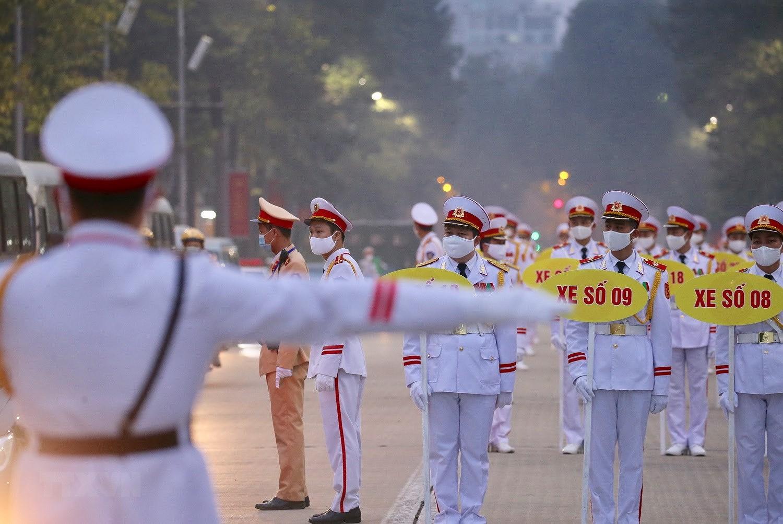 [Photo] Chuong trinh tong duyet Dai hoi toan quoc lan XIII cua Dang hinh anh 17