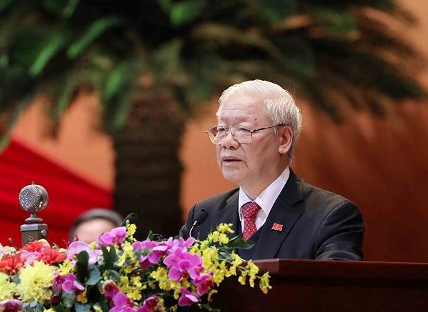 Lanh dao cac nuoc, dang, ban be quoc te chuc mung ong Nguyen Phu Trong hinh anh 1