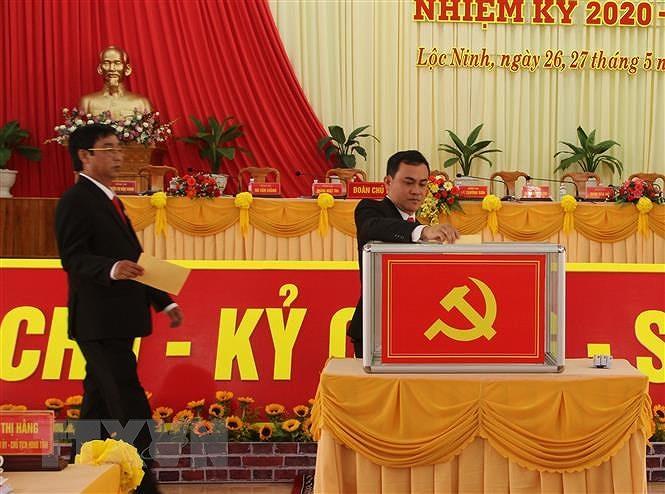 Binh Phuoc: Dai hoi diem Bi thu kiem Chu tich UBND huyen Loc Ninh hinh anh 1