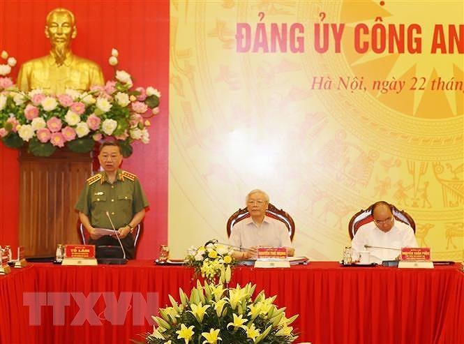 Tong Bi thu, Chu tich nuoc: Chuan bi tot Dai hoi Dang bo Cong an hinh anh 2