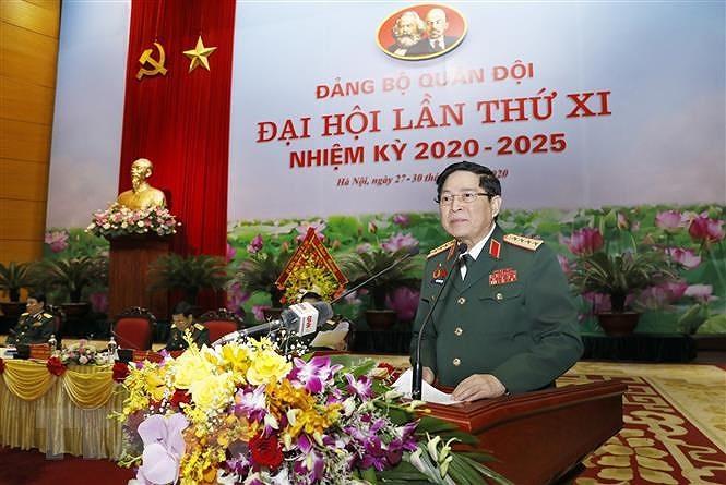 Be mac Dai hoi dai bieu Dang bo Quan doi lan thu XI nhiem ky 2020-2025 hinh anh 1