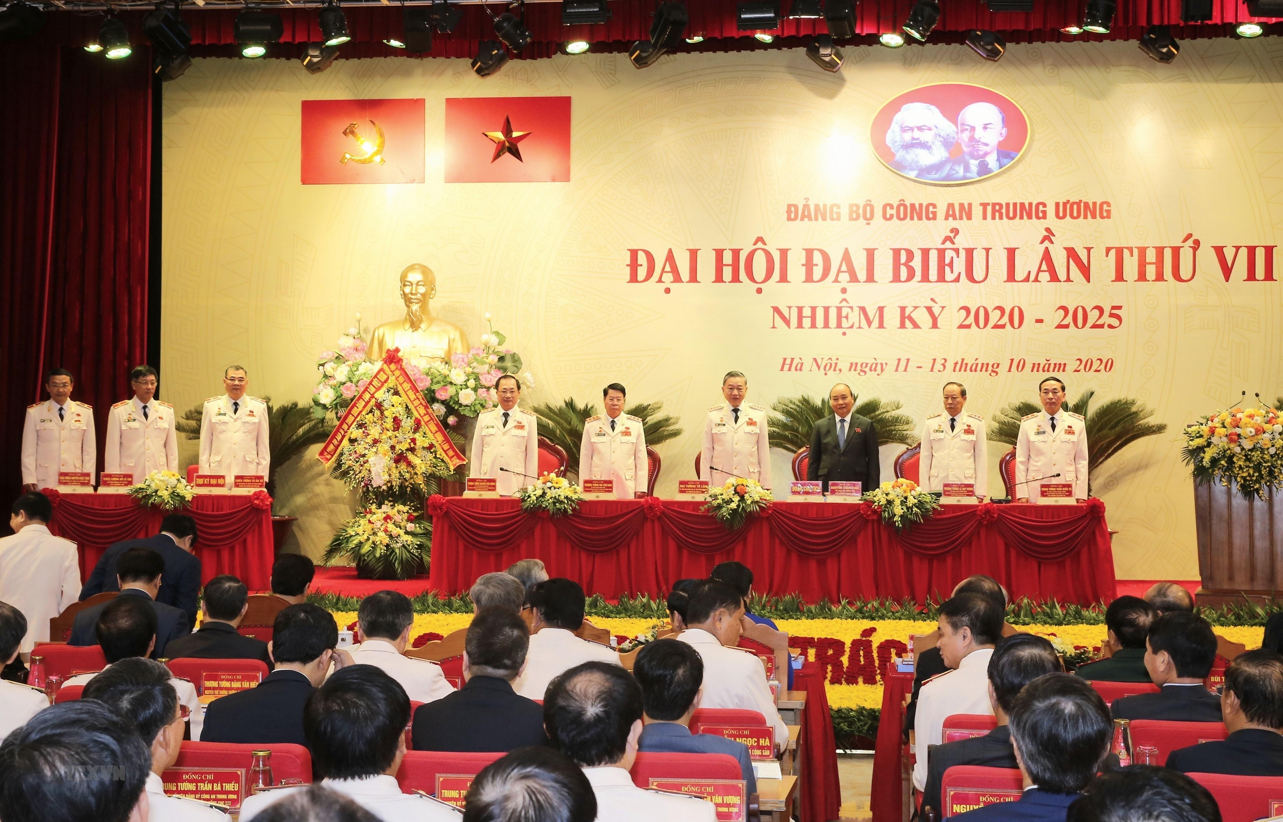 Thu tuong du Dai hoi dai bieu Dang bo Cong an Trung uong lan thu VII hinh anh 12