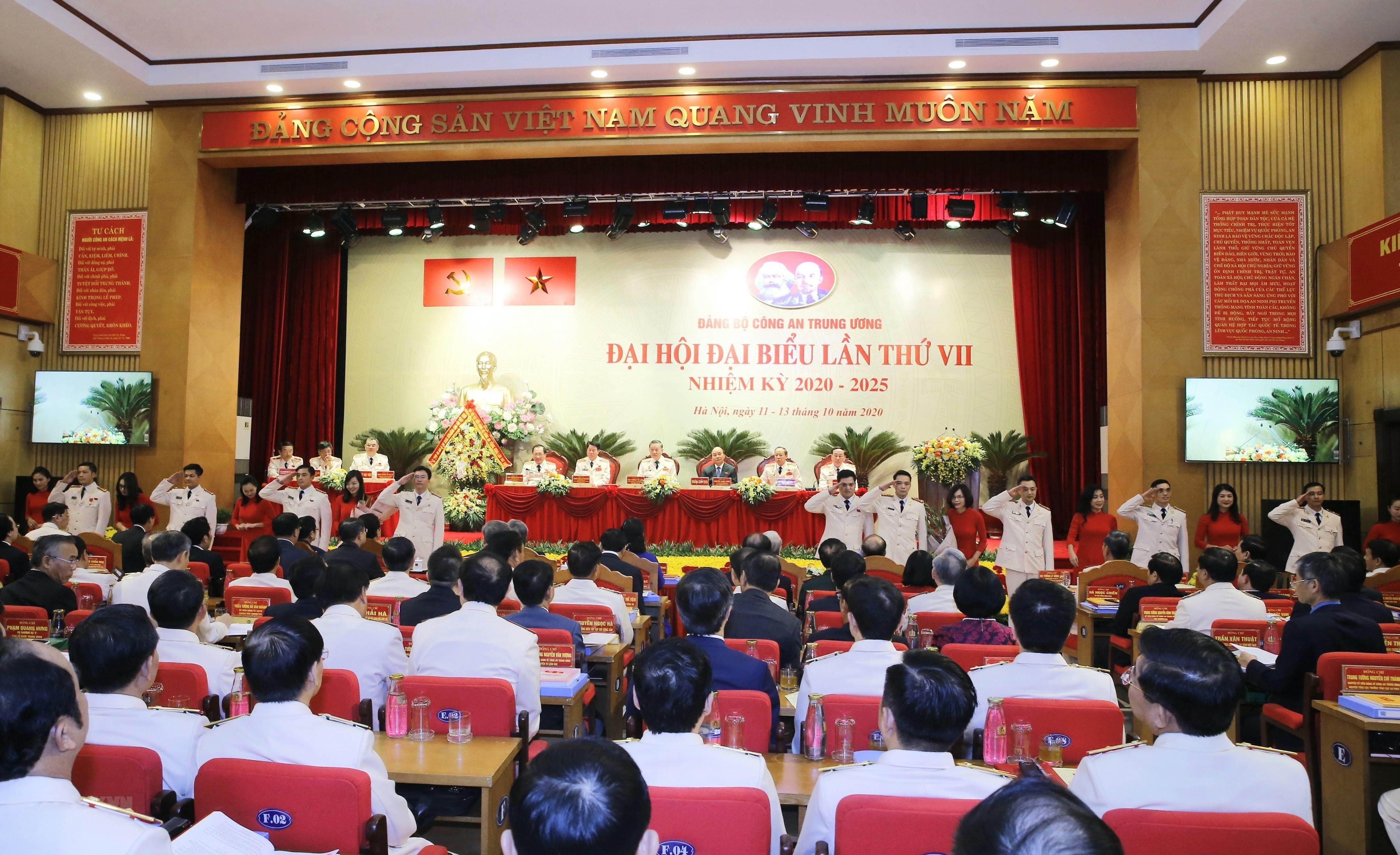 Thu tuong du Dai hoi dai bieu Dang bo Cong an Trung uong lan thu VII hinh anh 9