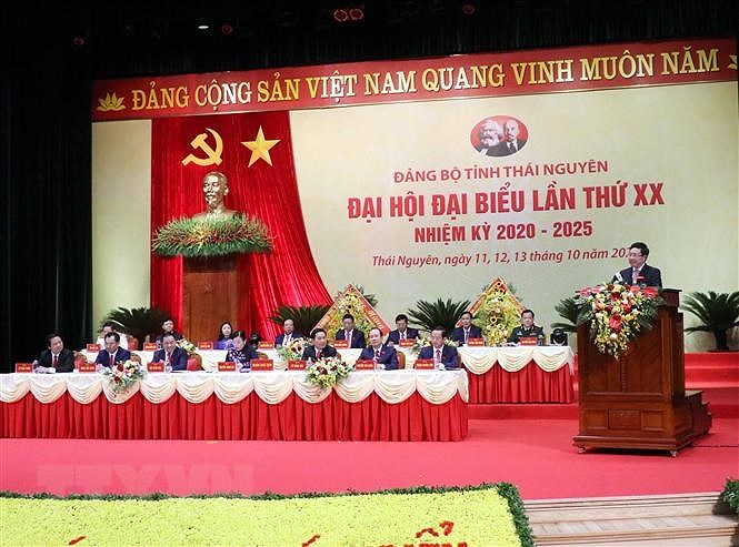 Khai mac Dai hoi Dai bieu Dang bo tinh Thai Nguyen lan thu XX hinh anh 1