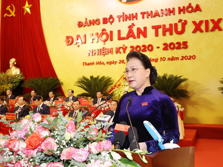 Khai mac Dai hoi dai bieu Dang bo tinh Thanh Hoa lan thu XIX hinh anh 1