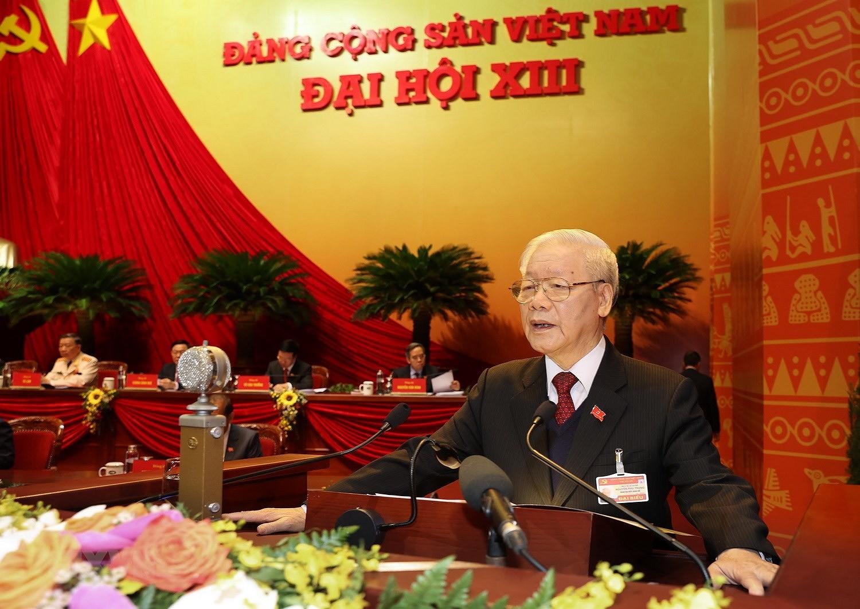 Hinh anh le khai mac trong the Dai hoi lan thu XIII Dang Cong san hinh anh 7