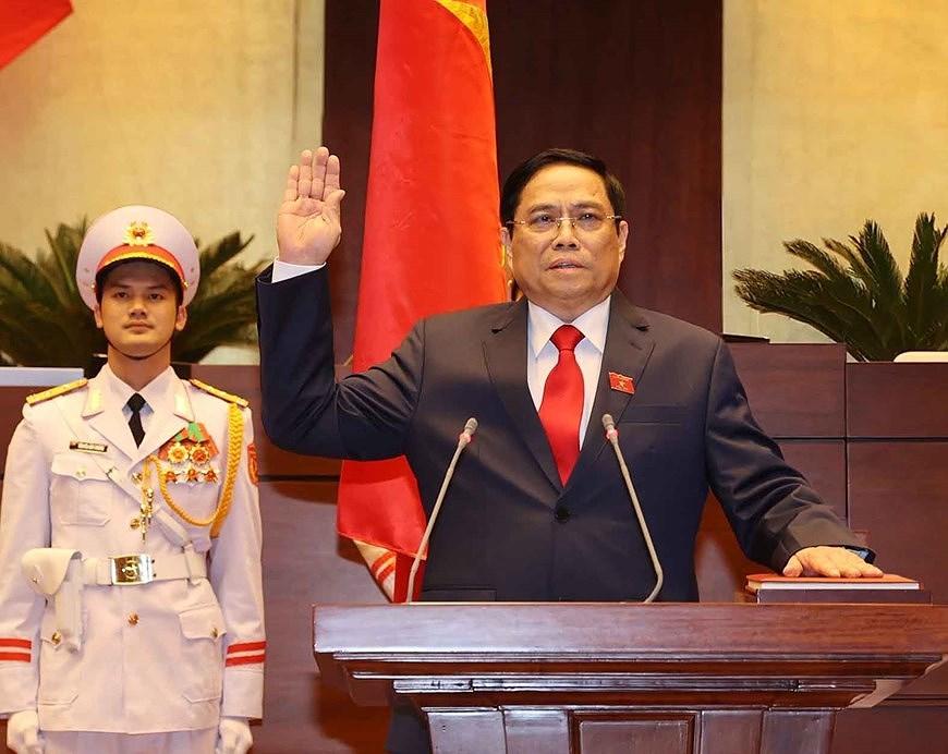 Toan van phat bieu nham chuc cua Thu tuong Chinh phu Pham Minh Chinh hinh anh 1