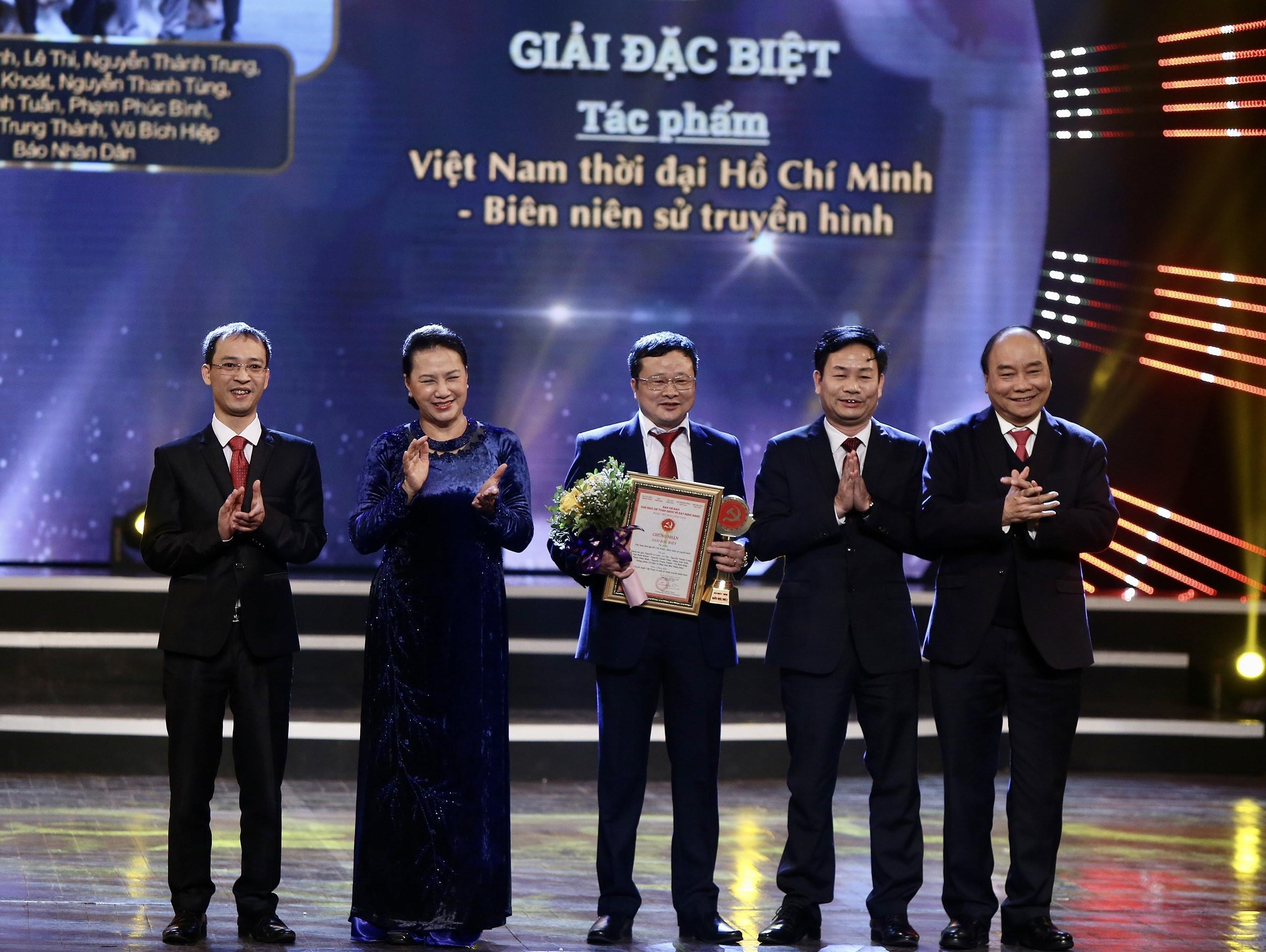 VietnamPlus duoc xuong ten tai Giai bao chi toan quoc ve Xay dung Dang hinh anh 1