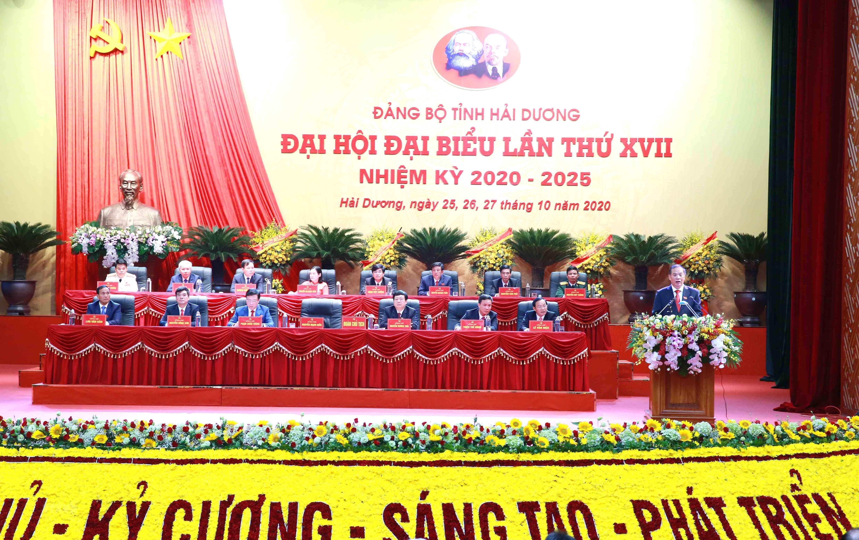 [Photo] Dai hoi dai bieu Dang bo tinh Hai Duong lan thu XVII hinh anh 12