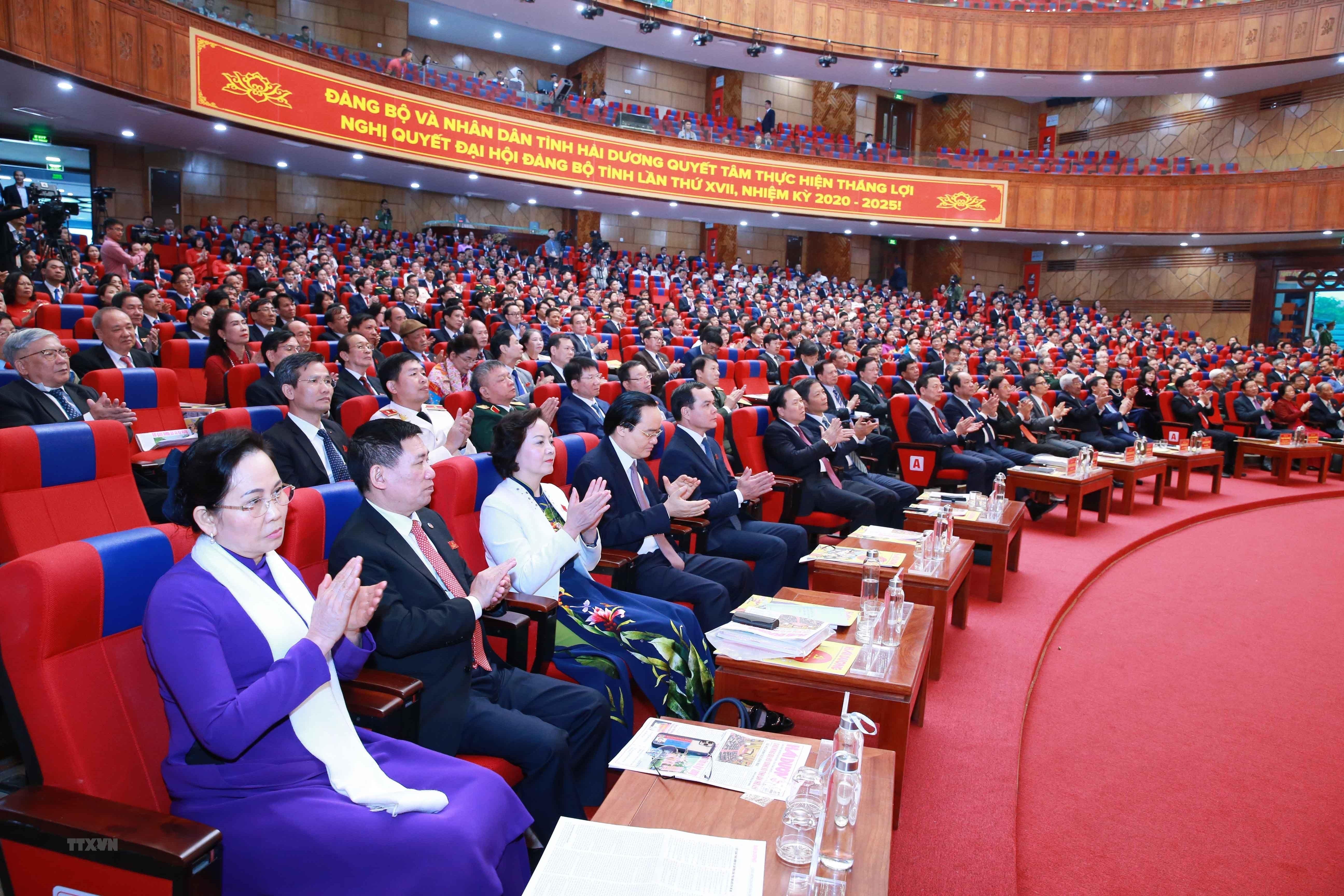 [Photo] Dai hoi dai bieu Dang bo tinh Hai Duong lan thu XVII hinh anh 9