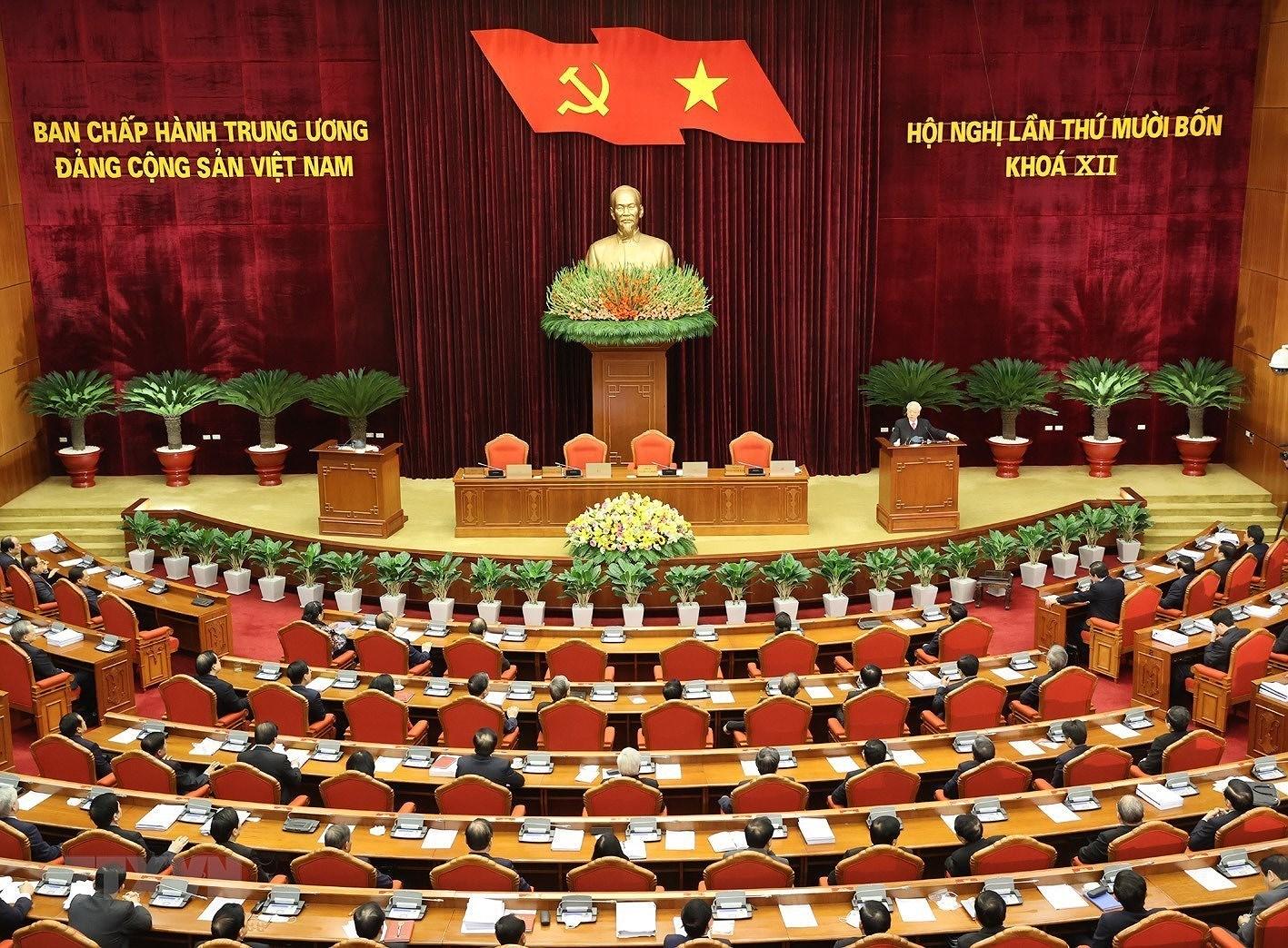 Hinh anh Be mac Hoi nghi lan thu 14 Ban Chap hanh Trung uong Dang hinh anh 1