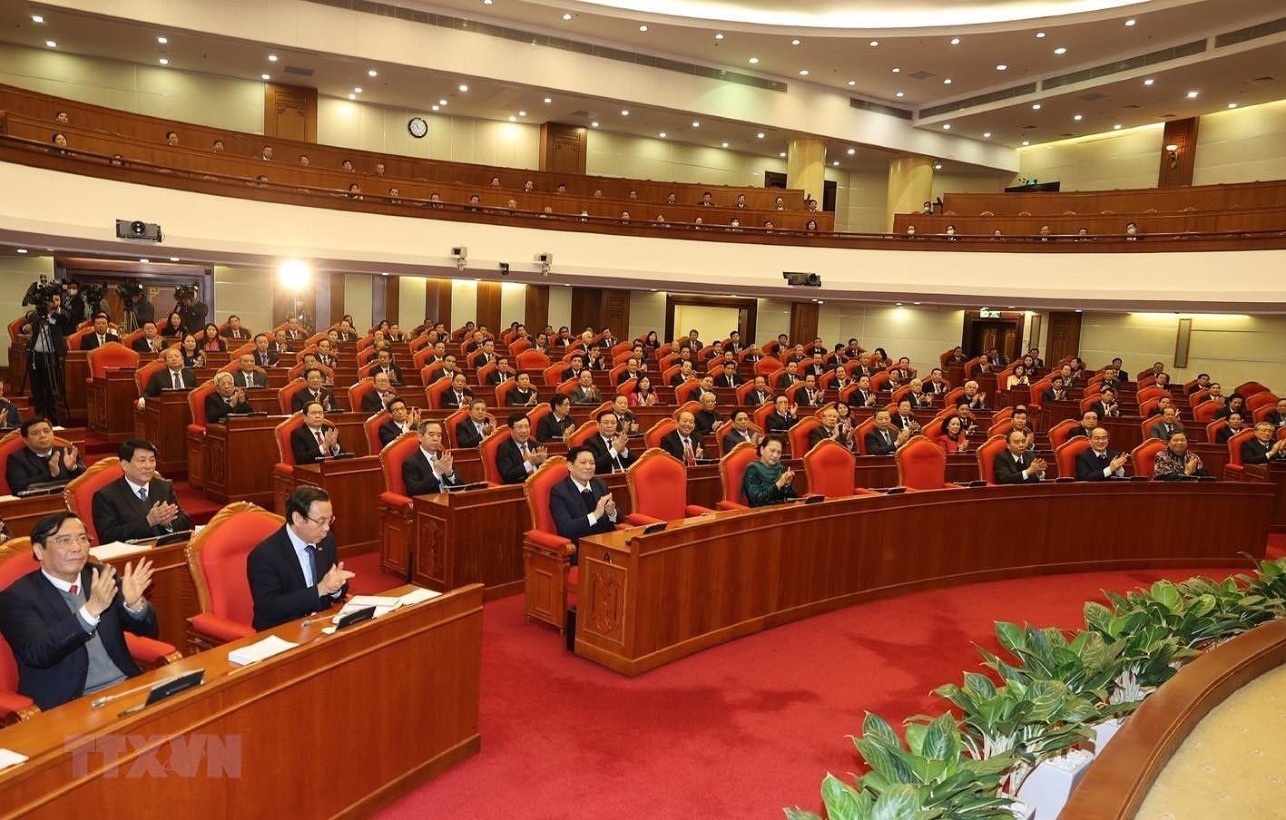 Hinh anh Be mac Hoi nghi lan thu 14 Ban Chap hanh Trung uong Dang hinh anh 10