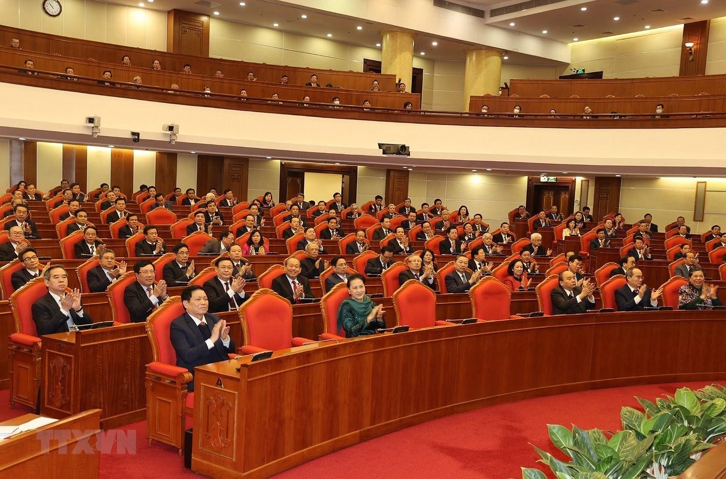Hinh anh Be mac Hoi nghi lan thu 14 Ban Chap hanh Trung uong Dang hinh anh 12