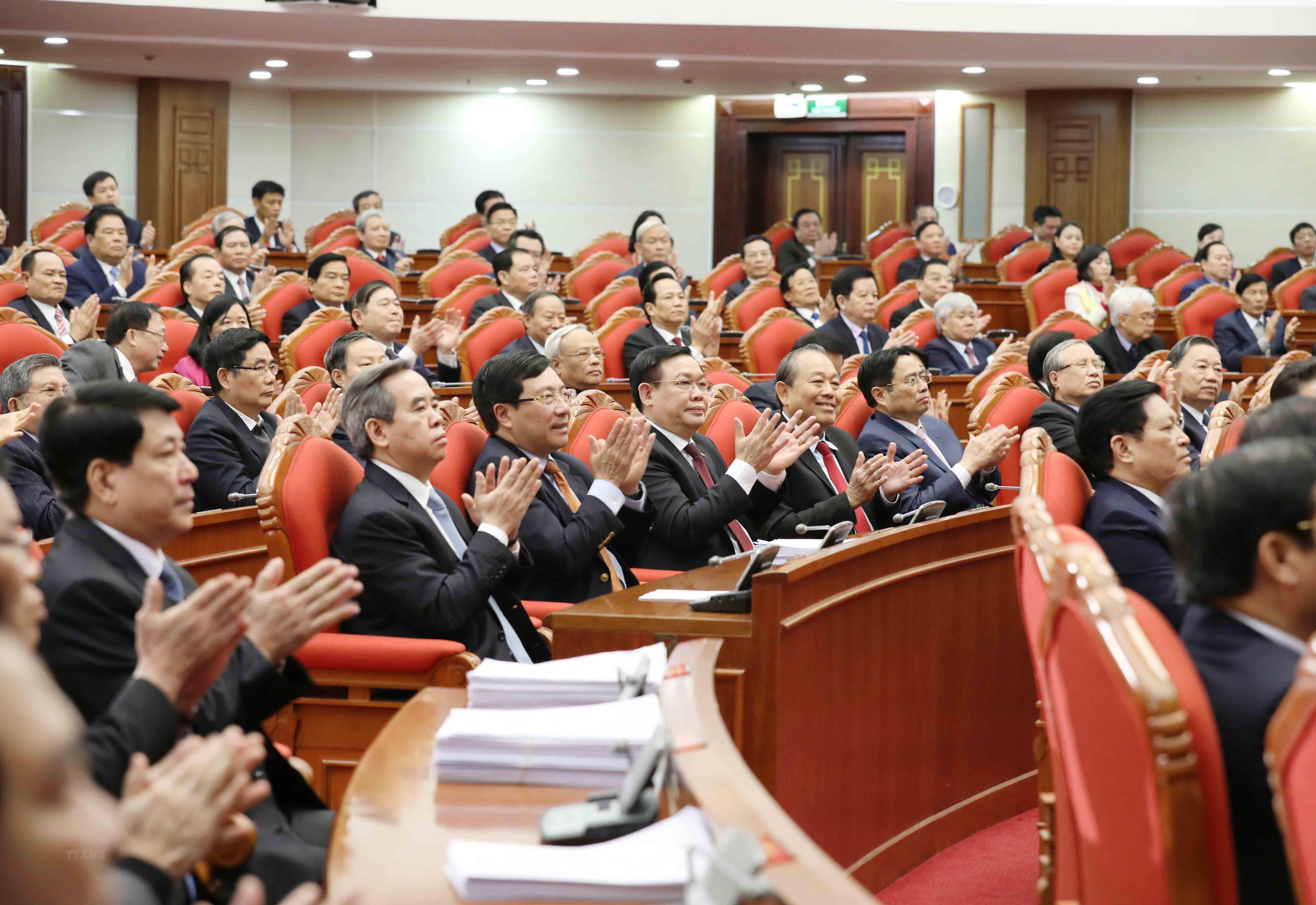 Hinh anh Be mac Hoi nghi lan thu 14 Ban Chap hanh Trung uong Dang hinh anh 4