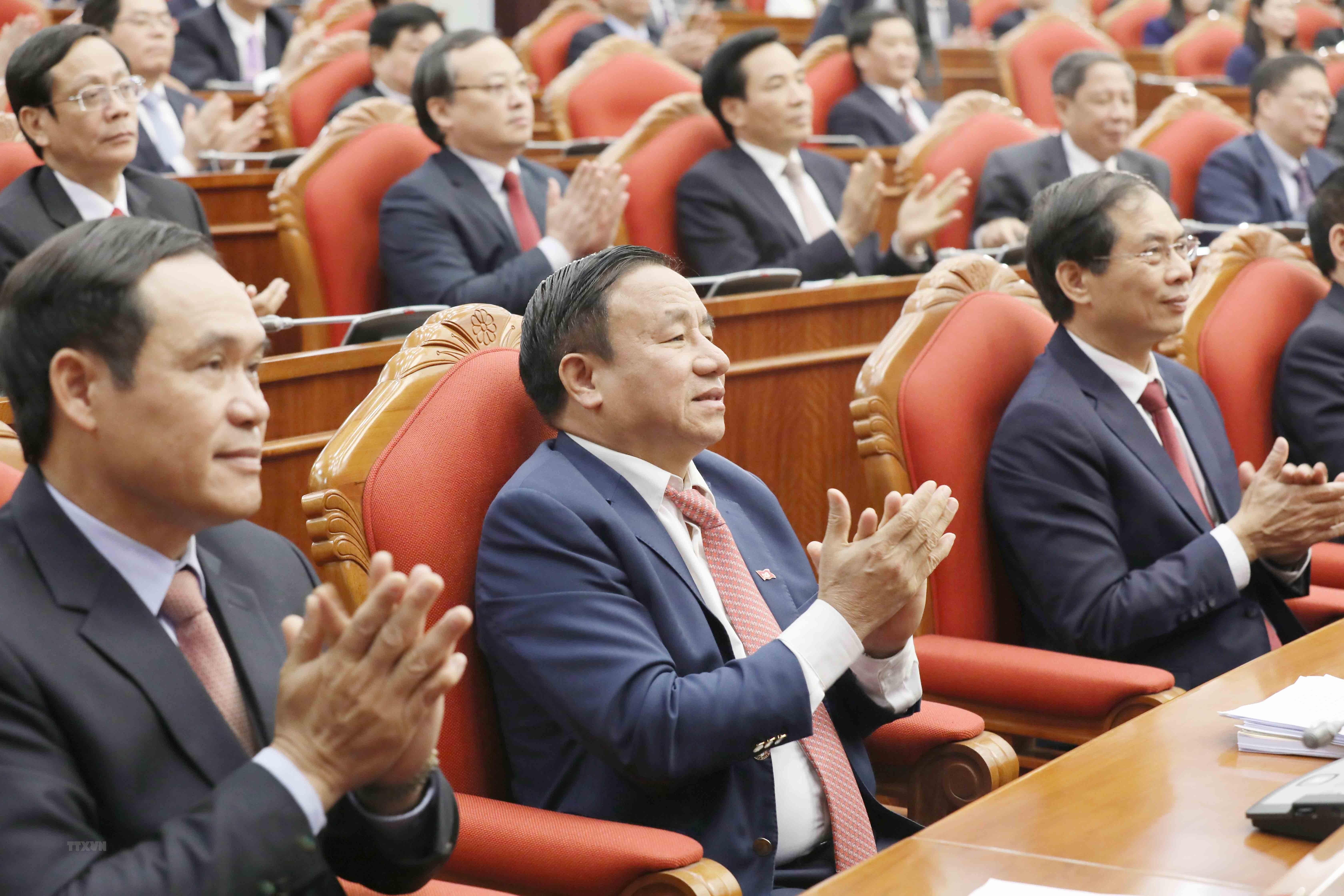 Hinh anh Be mac Hoi nghi lan thu 14 Ban Chap hanh Trung uong Dang hinh anh 5
