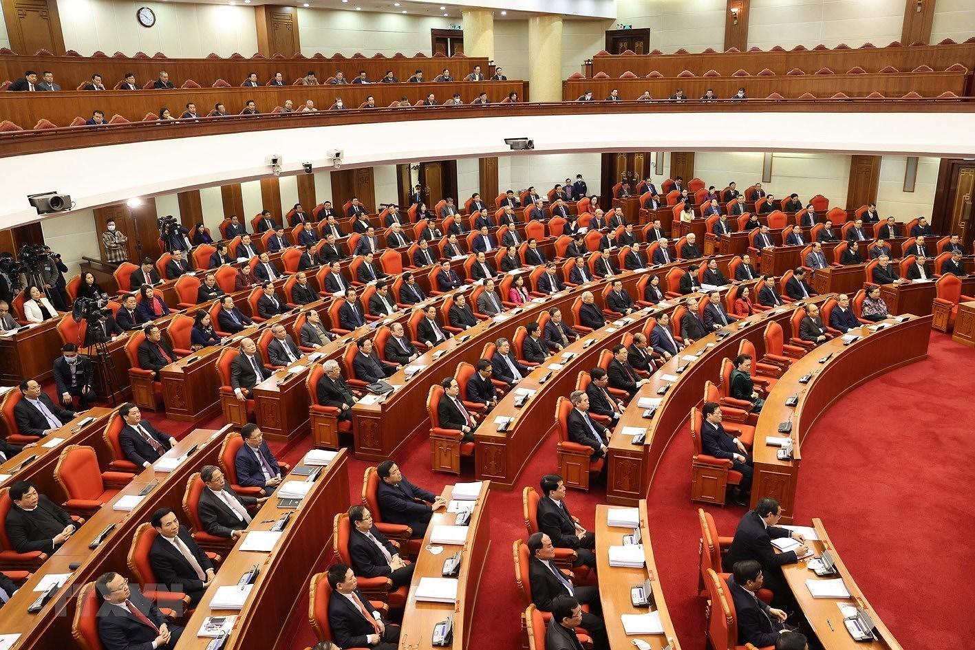 Hinh anh Be mac Hoi nghi lan thu 14 Ban Chap hanh Trung uong Dang hinh anh 8