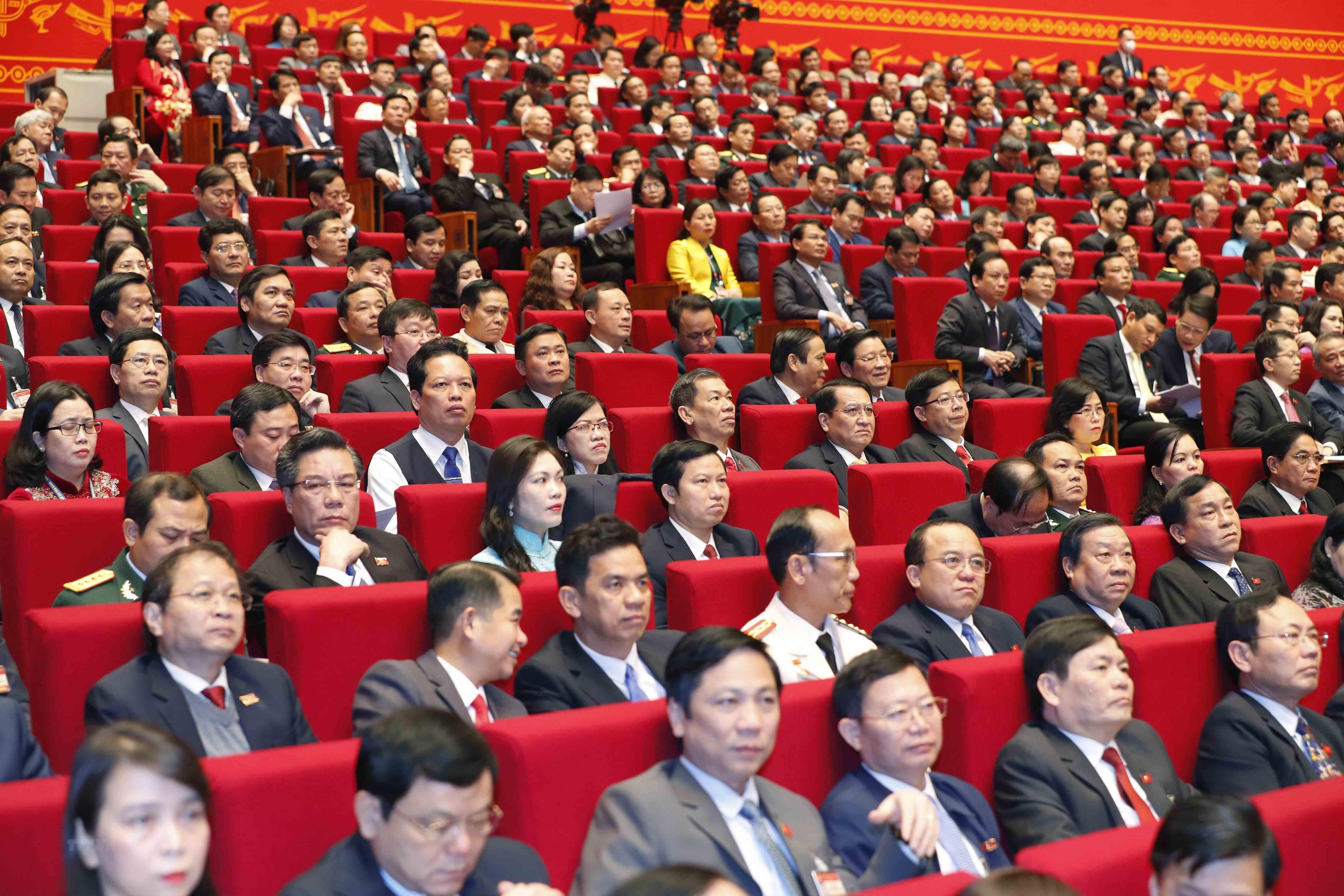 [Photo] Quang canh phien thao luan cac van kien Dai hoi XIII cua Dang hinh anh 18