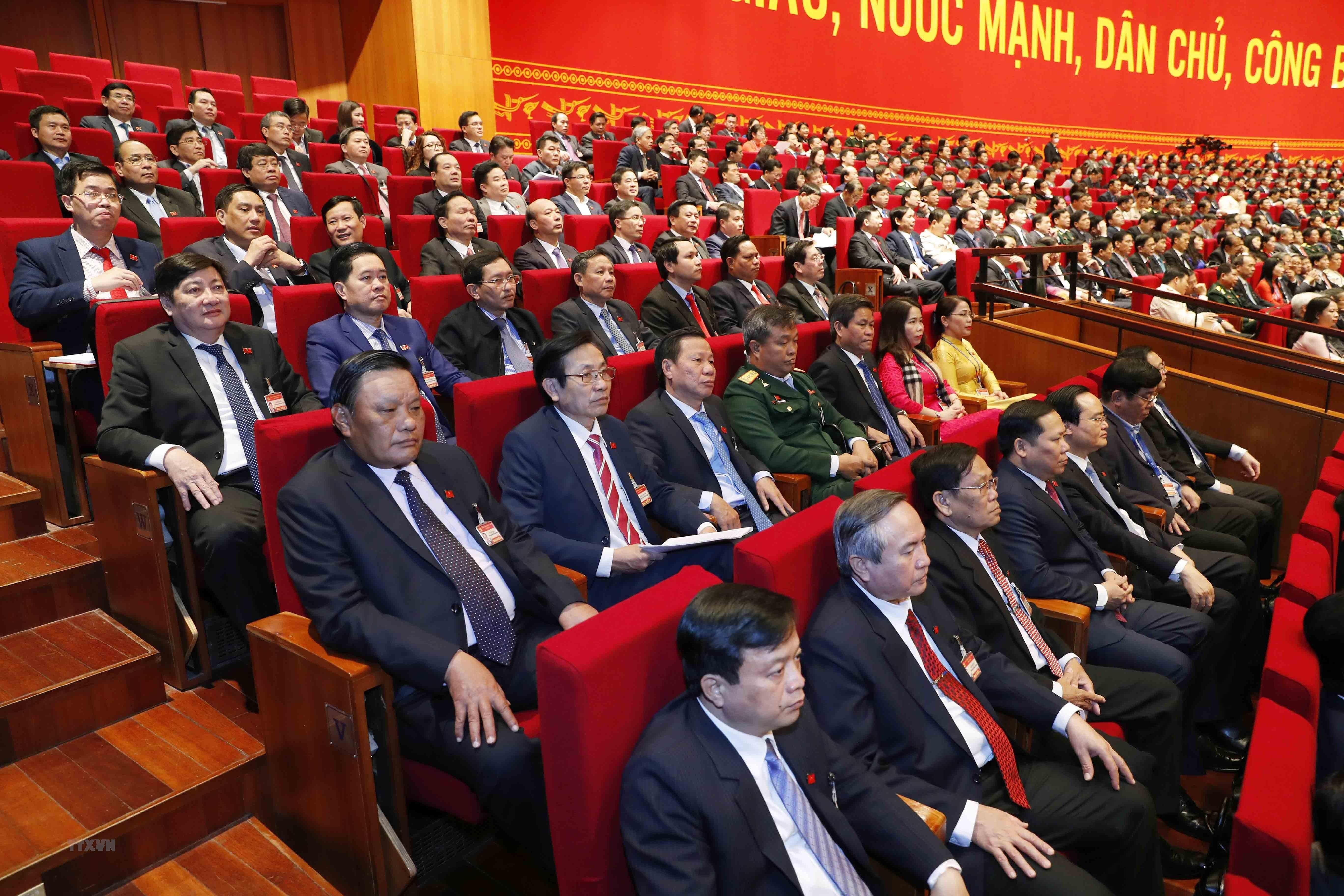 [Photo] Quang canh phien thao luan cac van kien Dai hoi XIII cua Dang hinh anh 21