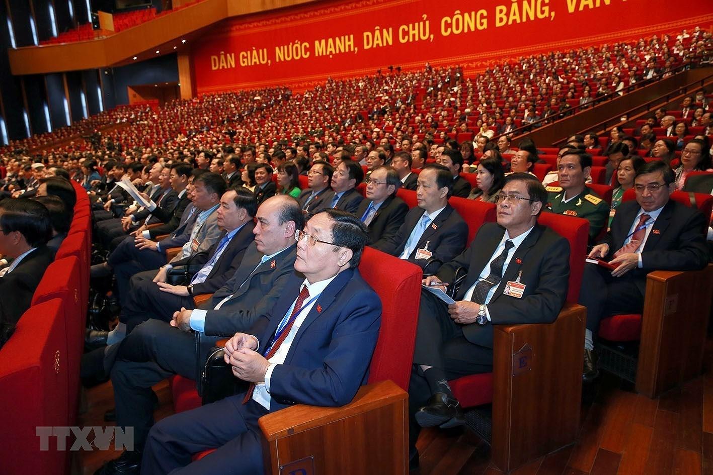 [Photo] Quang canh phien thao luan cac van kien Dai hoi XIII cua Dang hinh anh 22