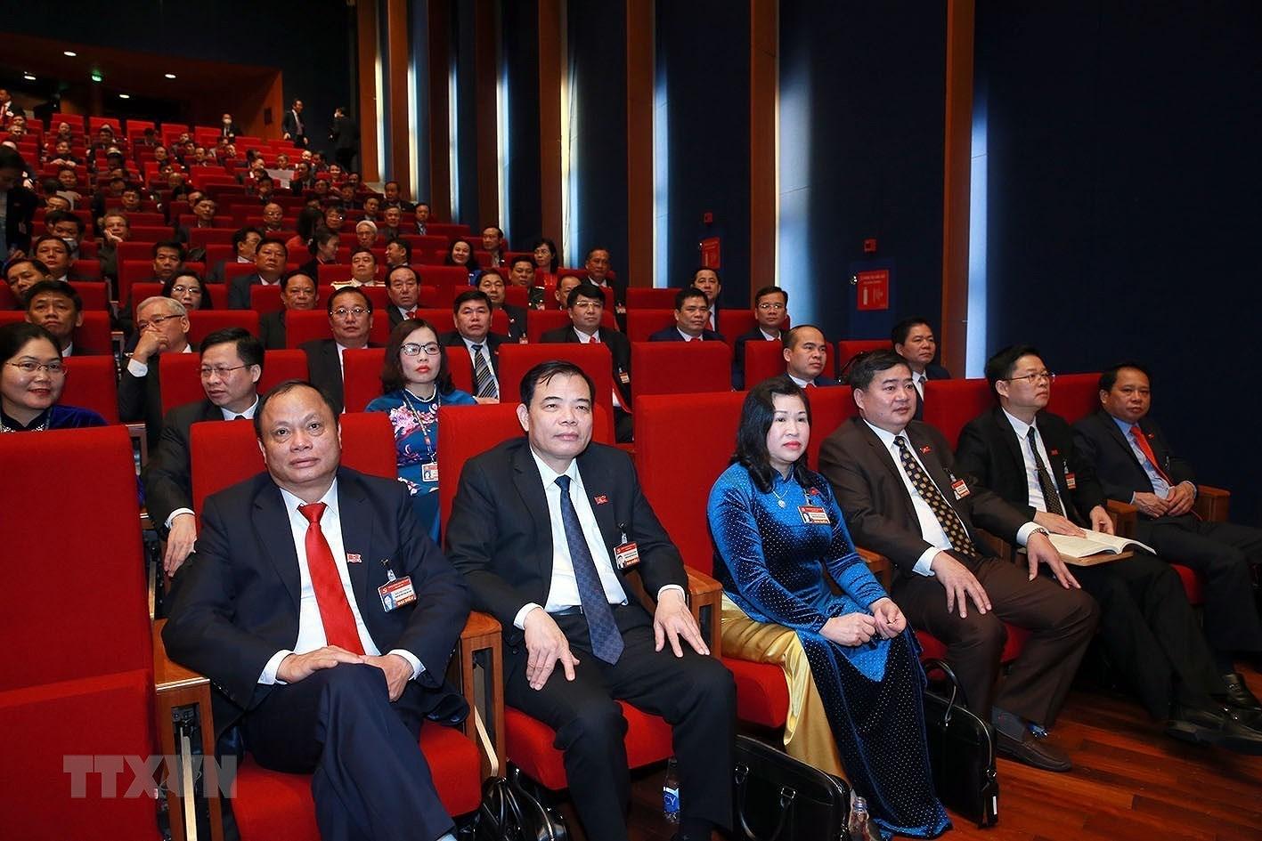 [Photo] Quang canh phien thao luan cac van kien Dai hoi XIII cua Dang hinh anh 23