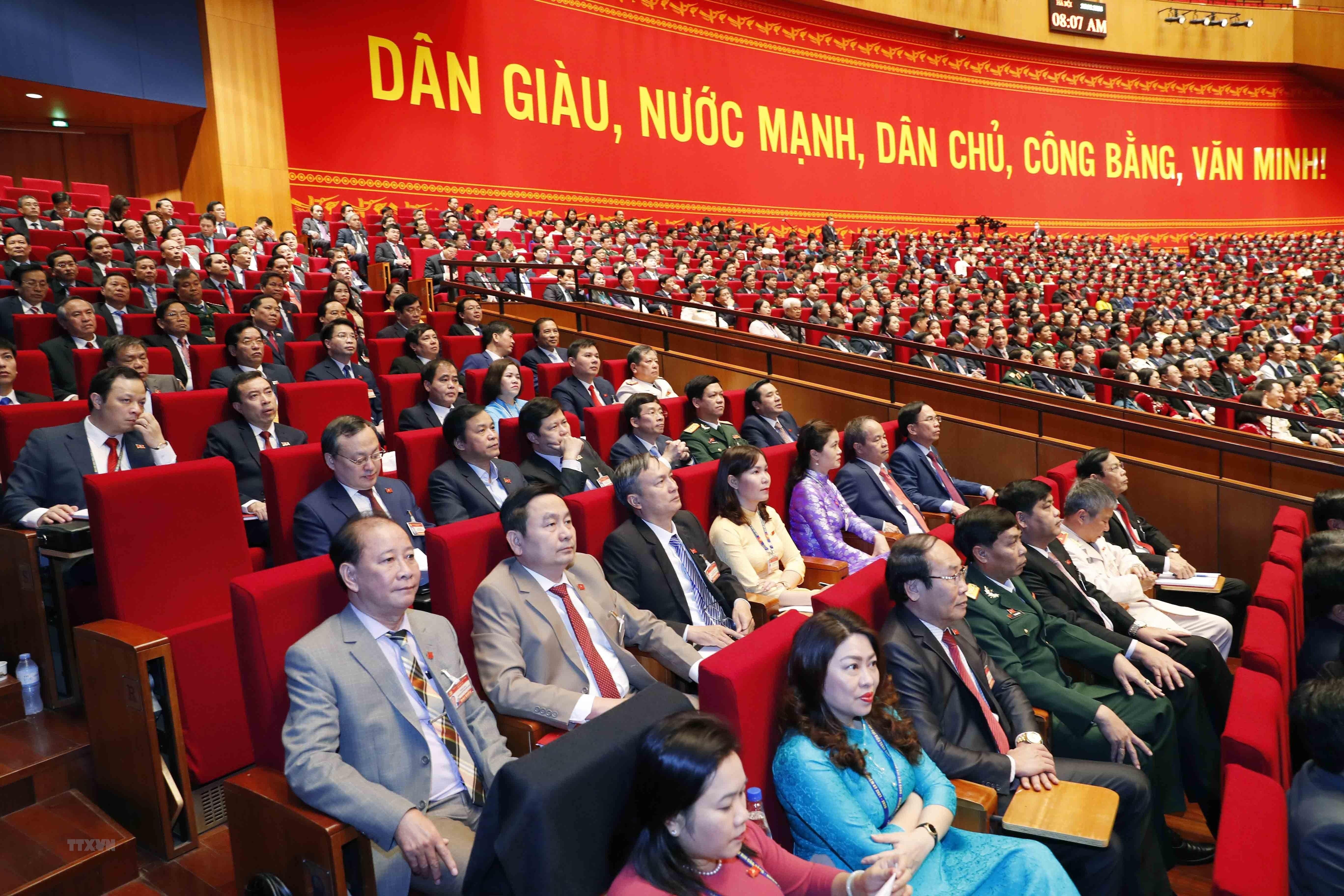 [Photo] Quang canh phien thao luan cac van kien Dai hoi XIII cua Dang hinh anh 25
