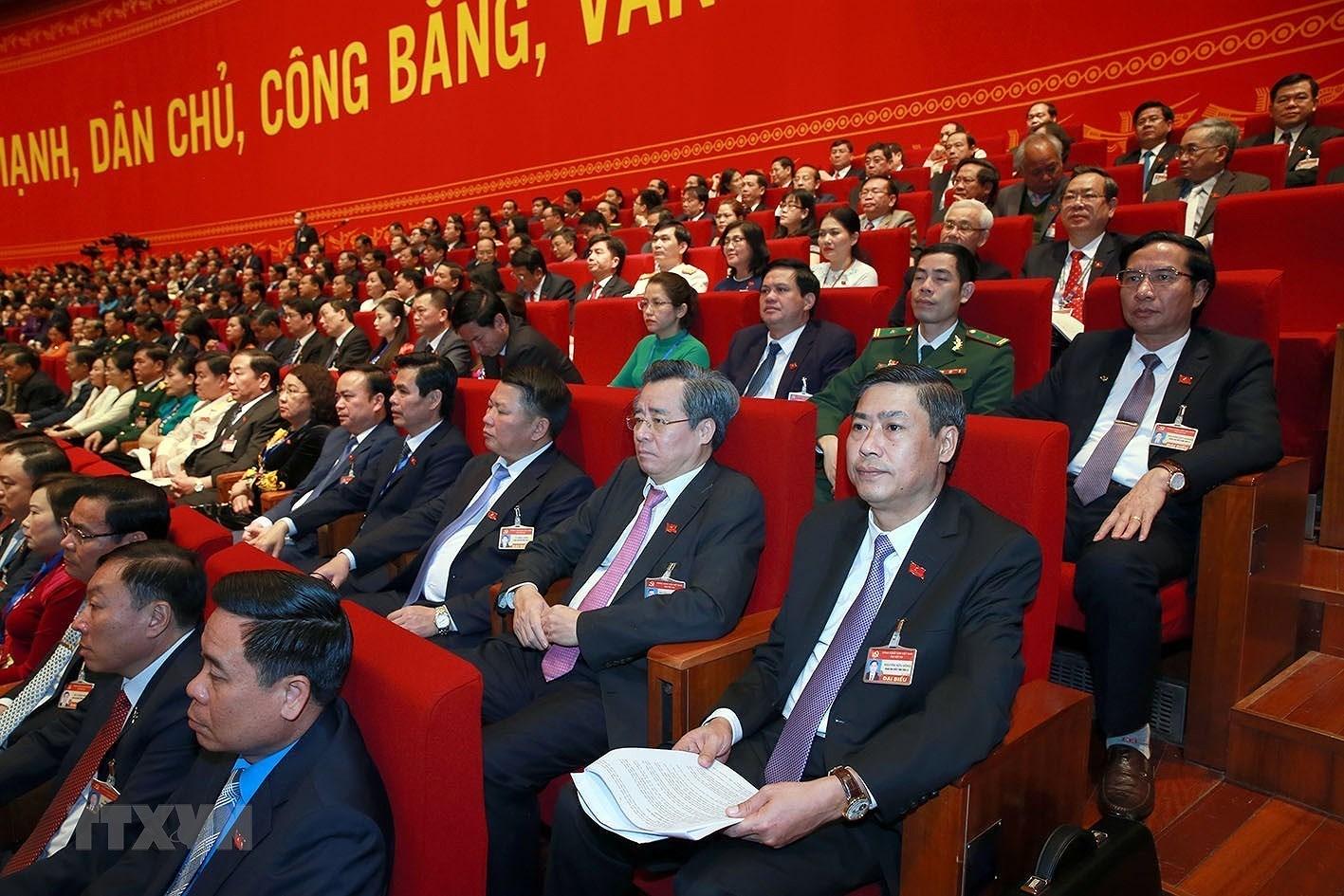 [Photo] Quang canh phien thao luan cac van kien Dai hoi XIII cua Dang hinh anh 26
