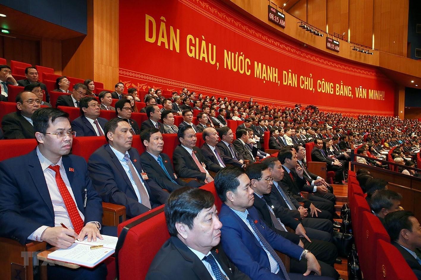 [Photo] Quang canh phien thao luan cac van kien Dai hoi XIII cua Dang hinh anh 28