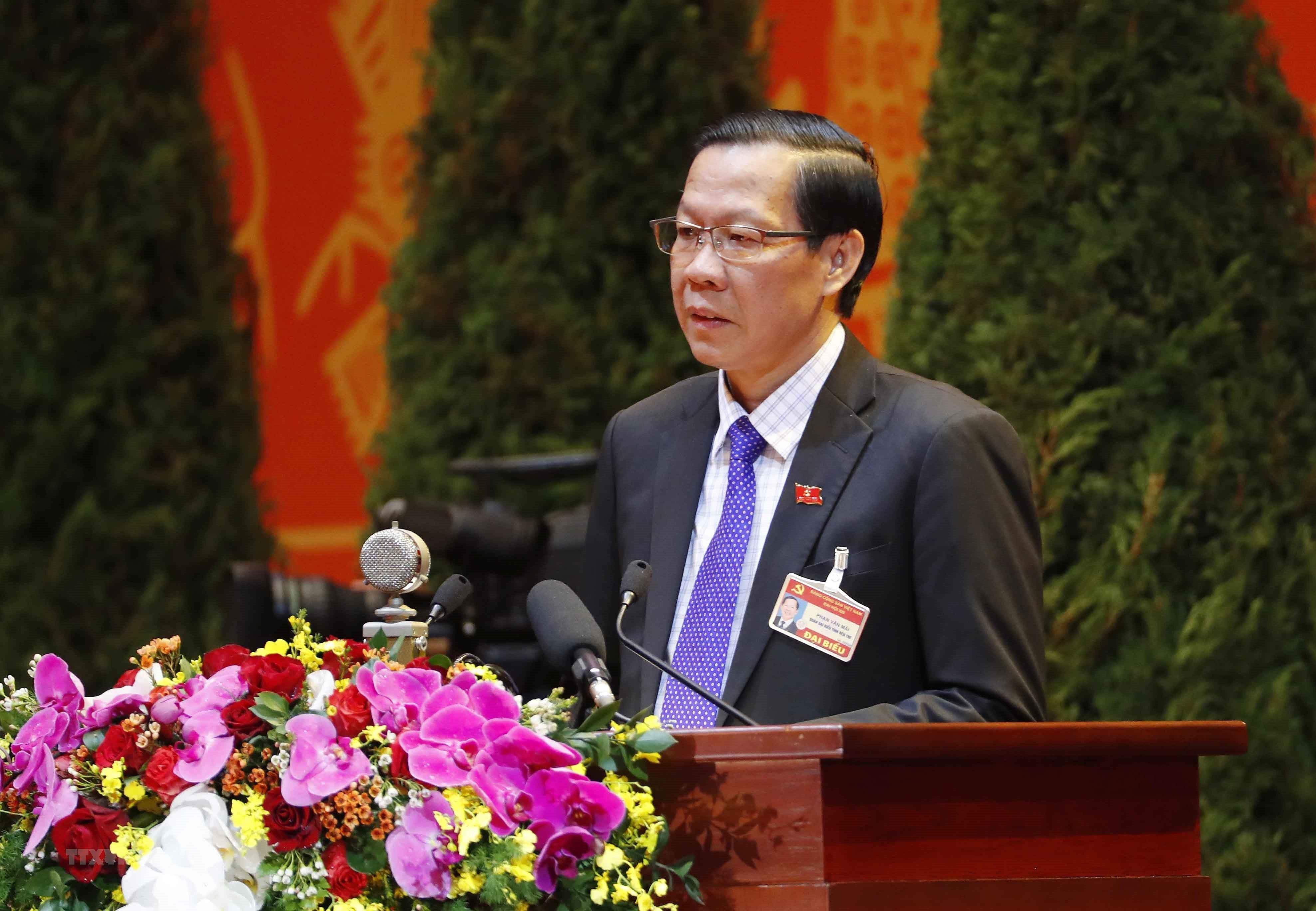 [Photo] Quang canh phien thao luan cac van kien Dai hoi XIII cua Dang hinh anh 29