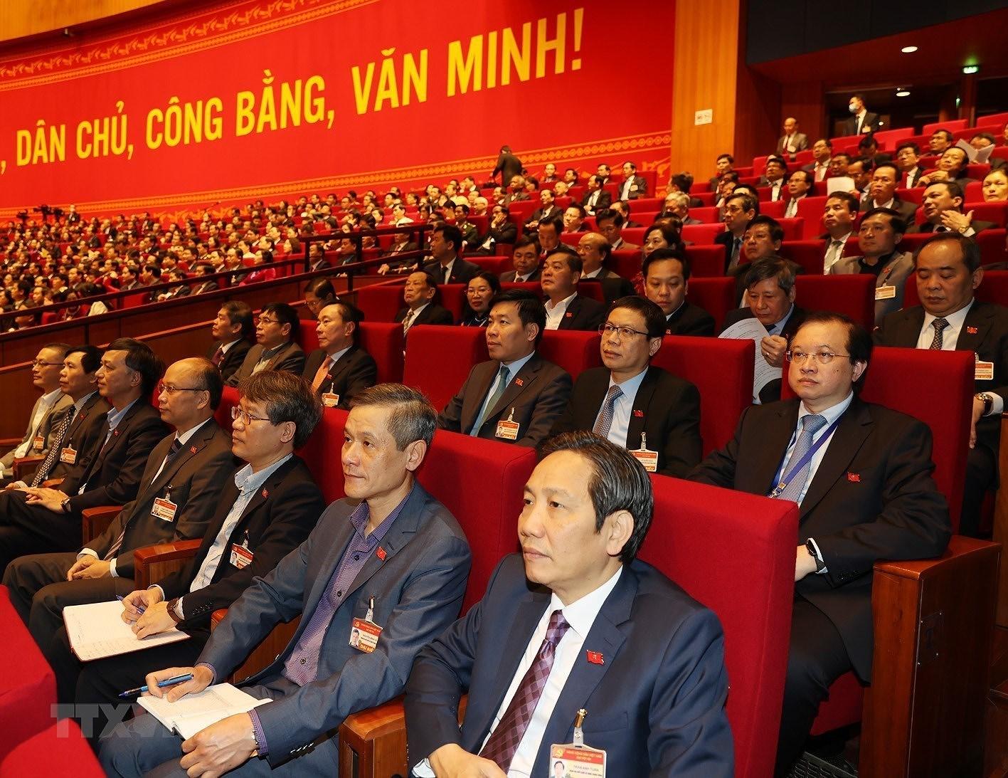 [Photo] Quang canh phien thao luan cac van kien Dai hoi XIII cua Dang hinh anh 5