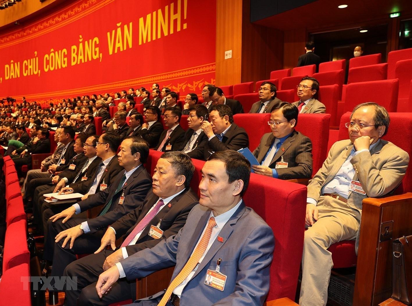 [Photo] Quang canh phien thao luan cac van kien Dai hoi XIII cua Dang hinh anh 7