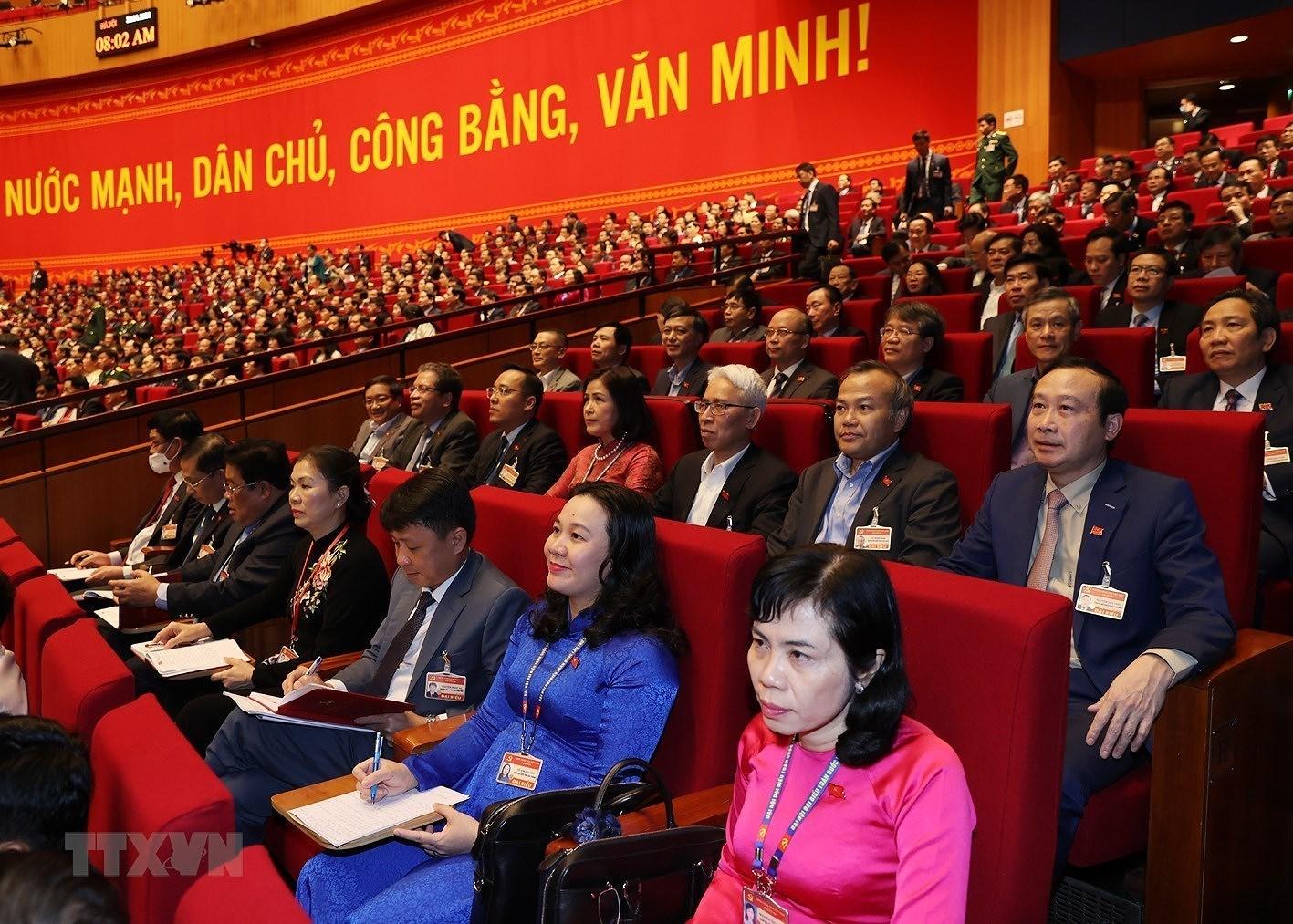 [Photo] Quang canh phien thao luan cac van kien Dai hoi XIII cua Dang hinh anh 8