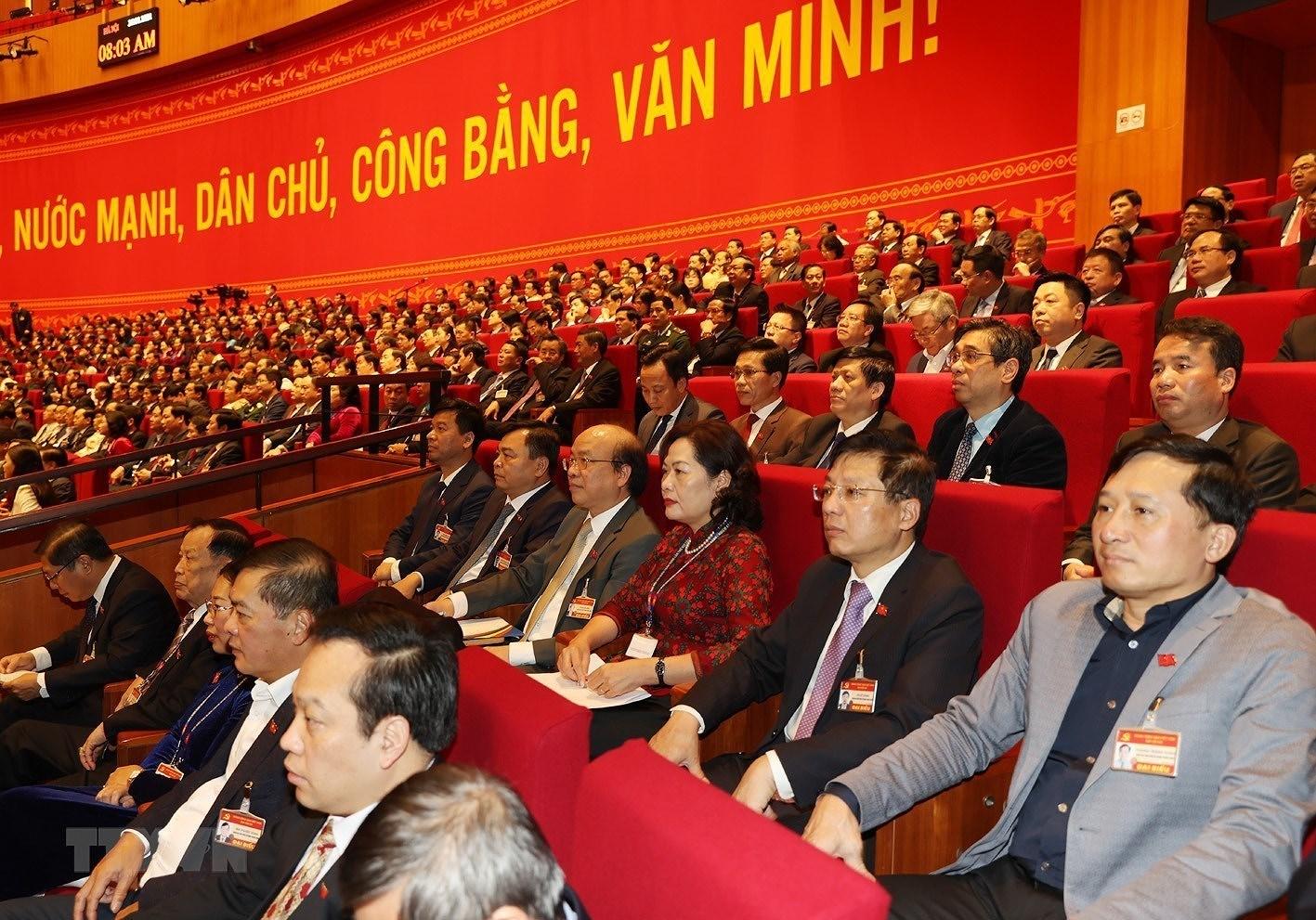 [Photo] Quang canh phien thao luan cac van kien Dai hoi XIII cua Dang hinh anh 9