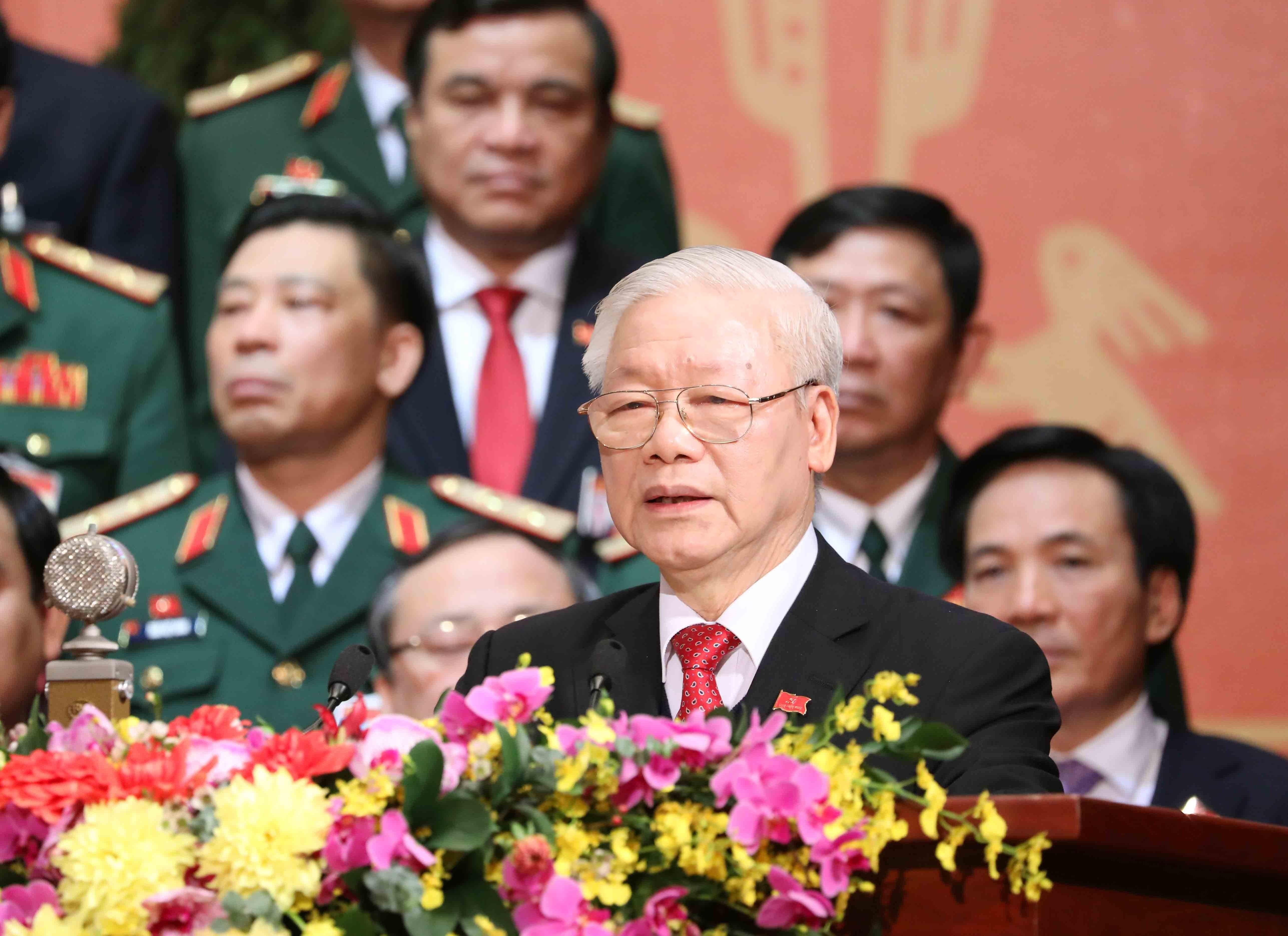 Tong Bi thu: Phat huy suc manh va y chi vuon len cua dan toc hinh anh 2
