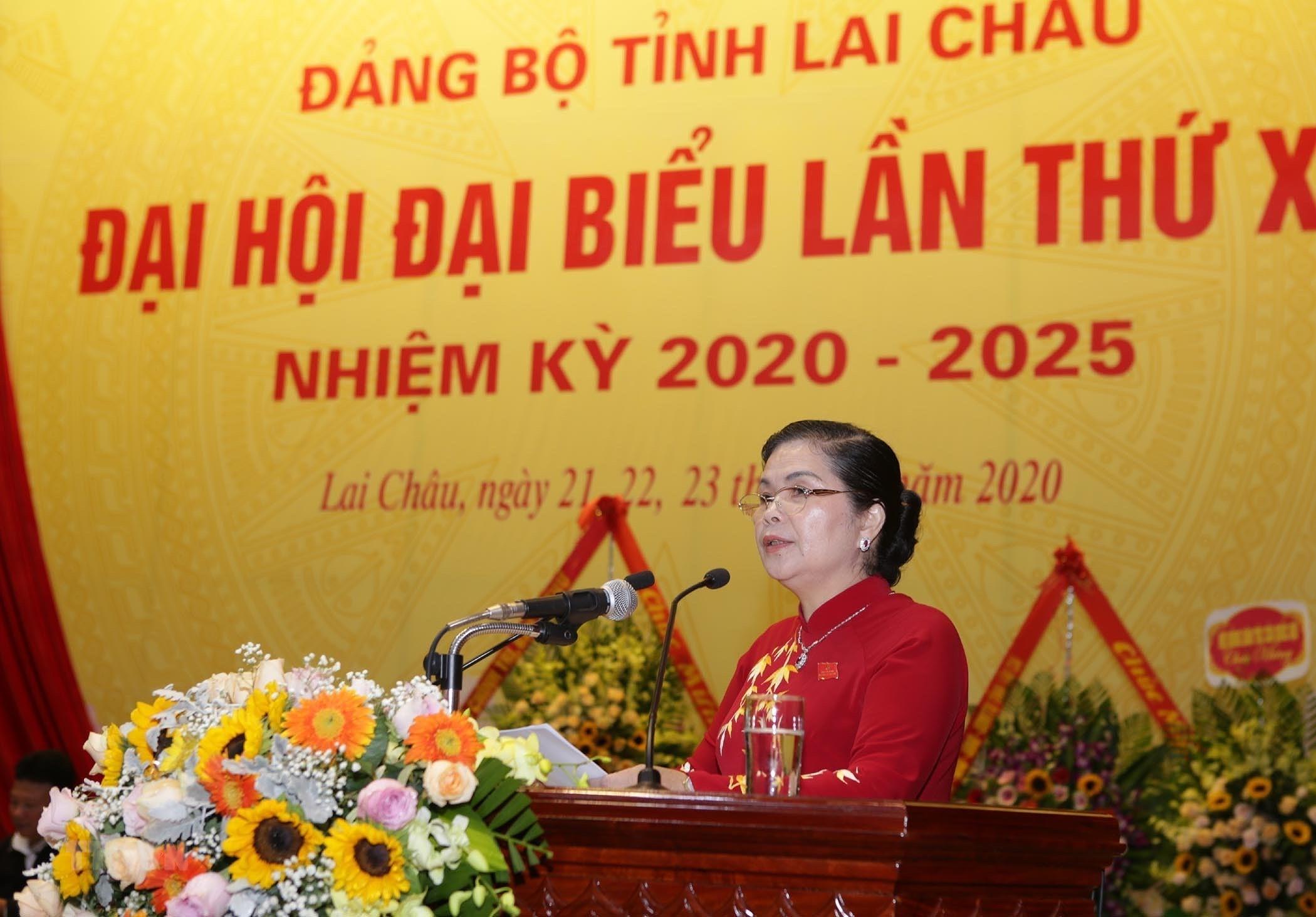 Ong Pham Minh Chinh chi dao Dai hoi Dang bo tinh Lai Chau lan thu XIV hinh anh 1