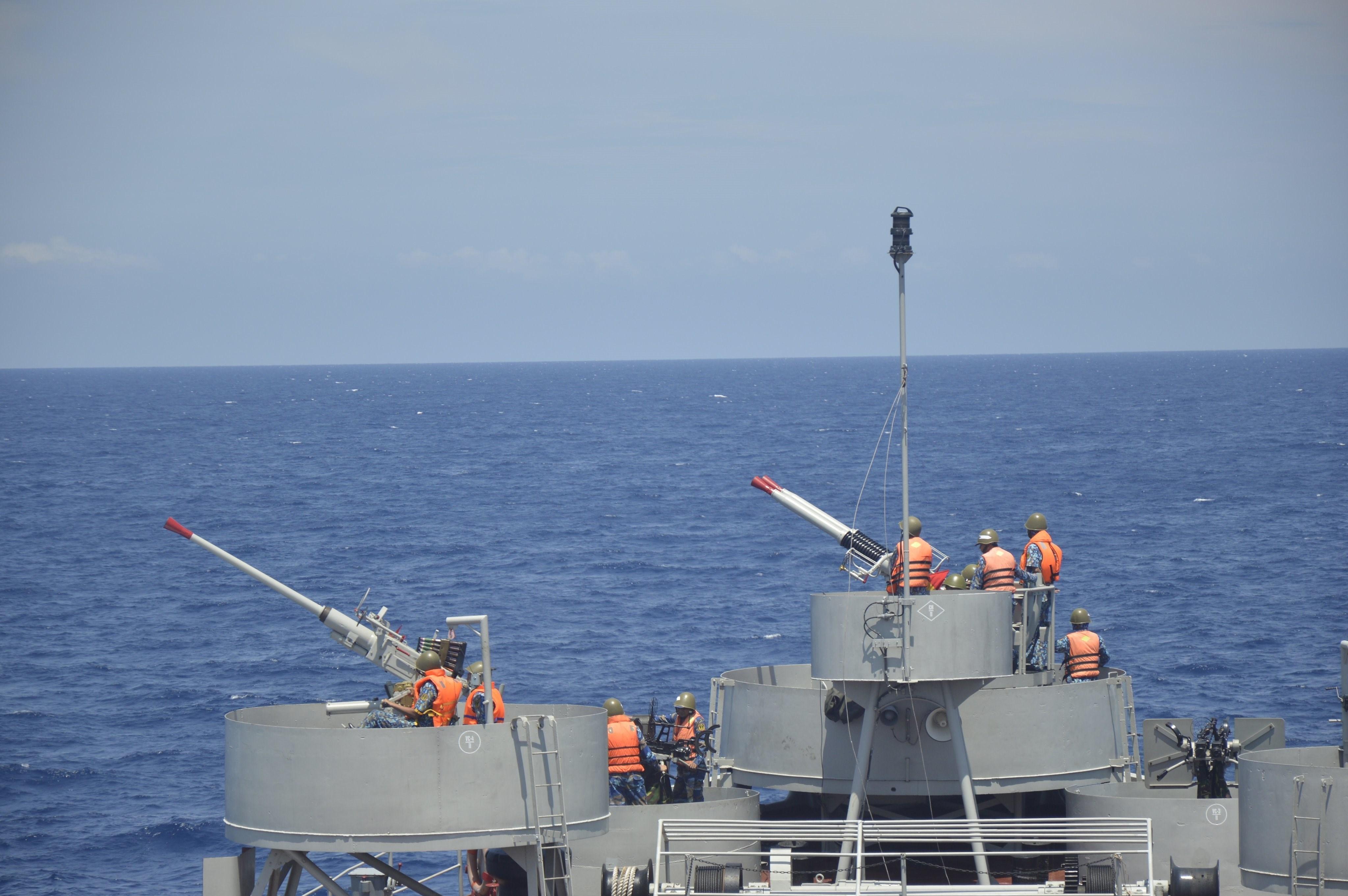 组图:海军二号司令部着力加强海上训练工作 hinh anh 1