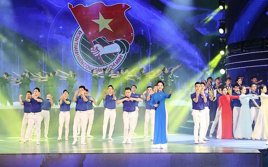 组图:胡志明共青团成立90周年纪念典礼隆重举行 hinh anh 8