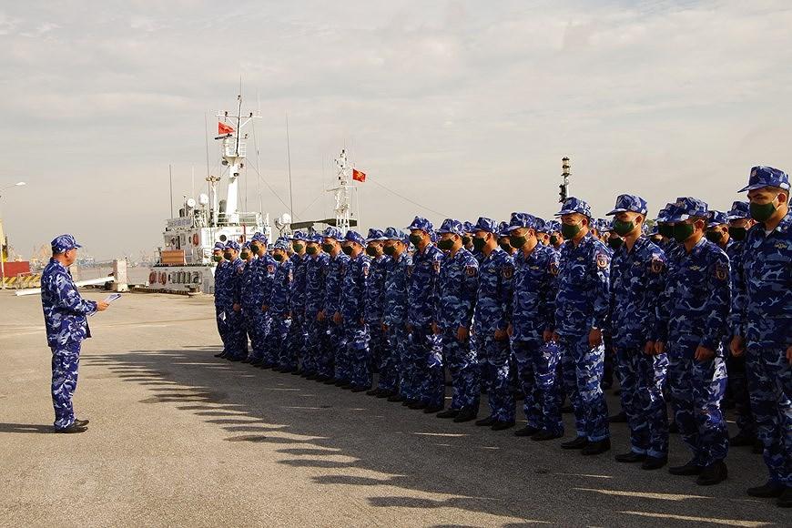 组图:海警第一区举行海上训练 hinh anh 1
