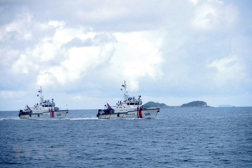 组图:海警第一区举行海上训练 hinh anh 2