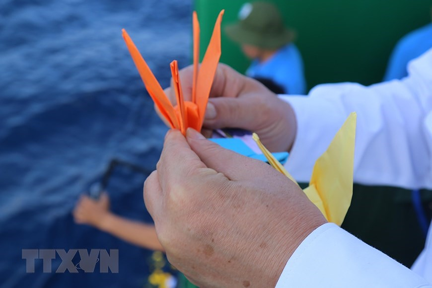 组图:长沙烈士悼念仪式在东海上举行 hinh anh 4