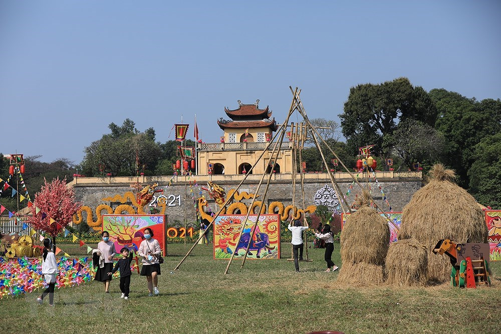 组图:来升龙皇城感受昔日越南春节氛围 hinh anh 3