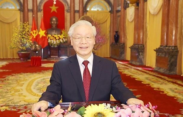 越共中央总书记、国家主席阮富仲发表二〇二一辛丑牛年新春贺词 hinh anh 1