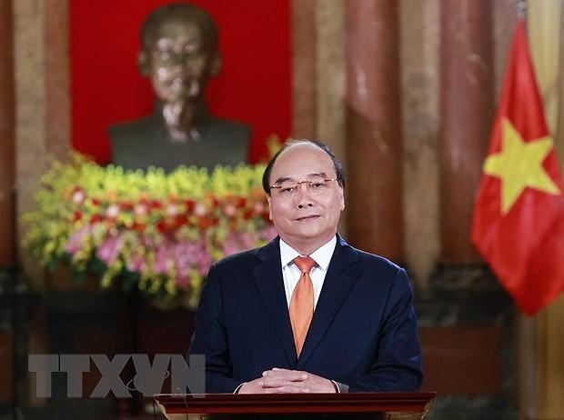 越南国家主席阮春福出席博鳌亚洲论坛2021年会开幕式 hinh anh 1
