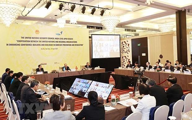 促进联合国与区域组织合作:由越南主持的高级别公开辩论会赢得国际社会的关注与好评 hinh anh 1