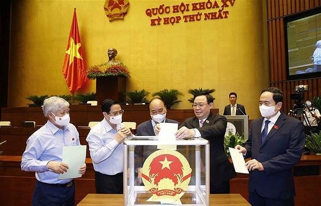 越南第十五届国会第一次会议:选举产生国会各直属机构领导 hinh anh 1